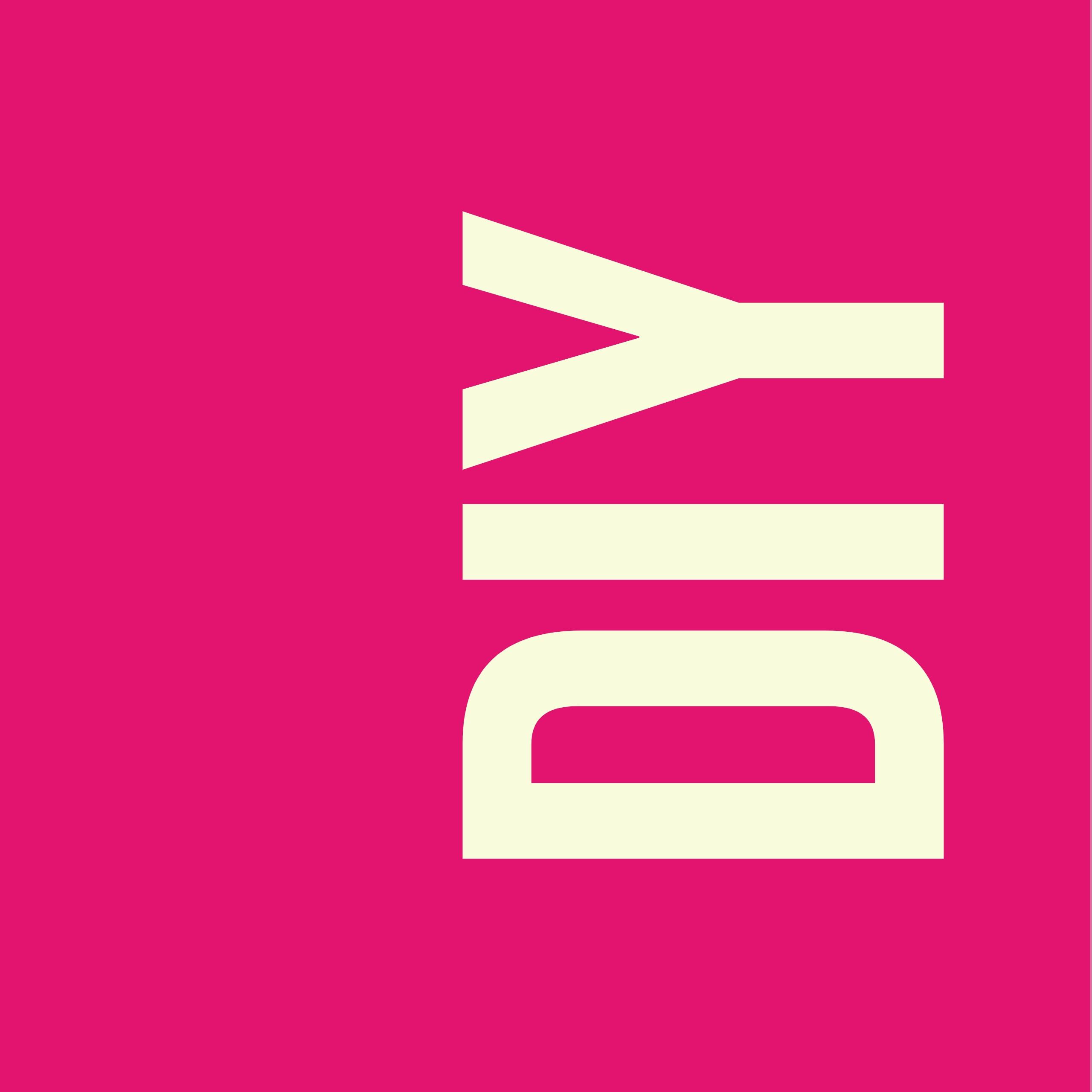 """""""DIY"""" Text auf pinkem Hintergrund"""